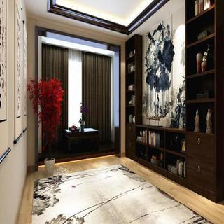 混搭三居装修书房效果图