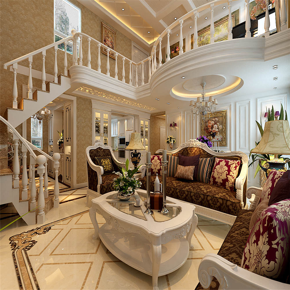 歐式復式裝修樓梯圖片