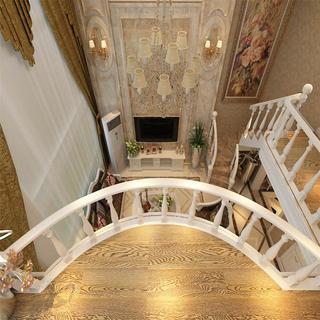 歐式復式裝修客廳俯視圖
