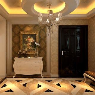 欧式复式装修玄关柜图片