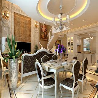 欧式复式装修餐厅布置图