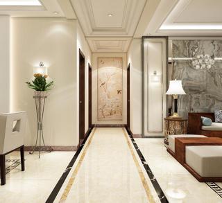 简约中式三居装修过道图片