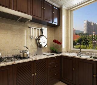 简约中式三居装修厨房欣赏图