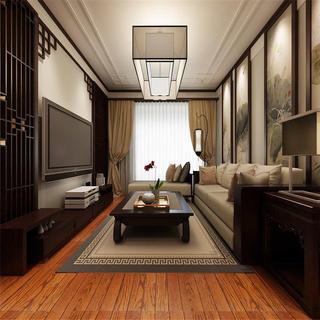 190平中式装修客厅效果图