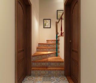 美式复式装修楼梯图片
