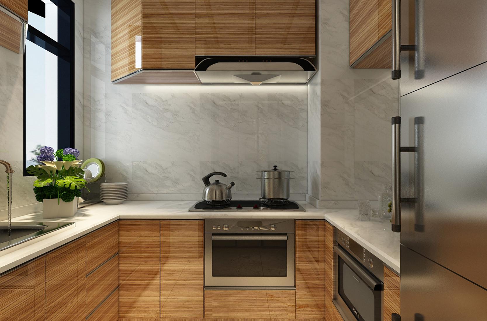 新中式三居装修厨柜图片