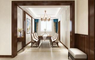 四居室美式风格装修餐厅设计图