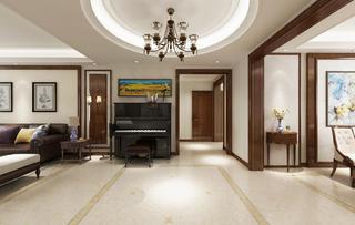 四居室美式风格装修门厅设计图