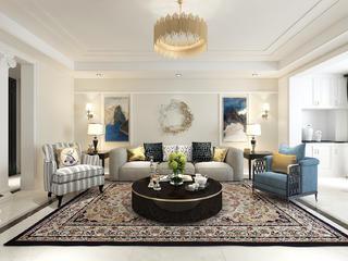 四居室简约风格装修沙发背景墙图片
