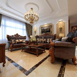 150平简欧风格装修沙发背景墙图片