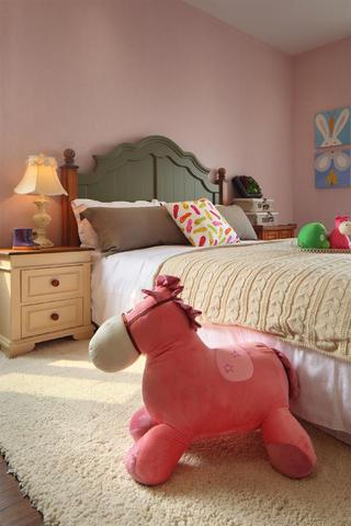 田园二居装修儿童房床头背景墙图片