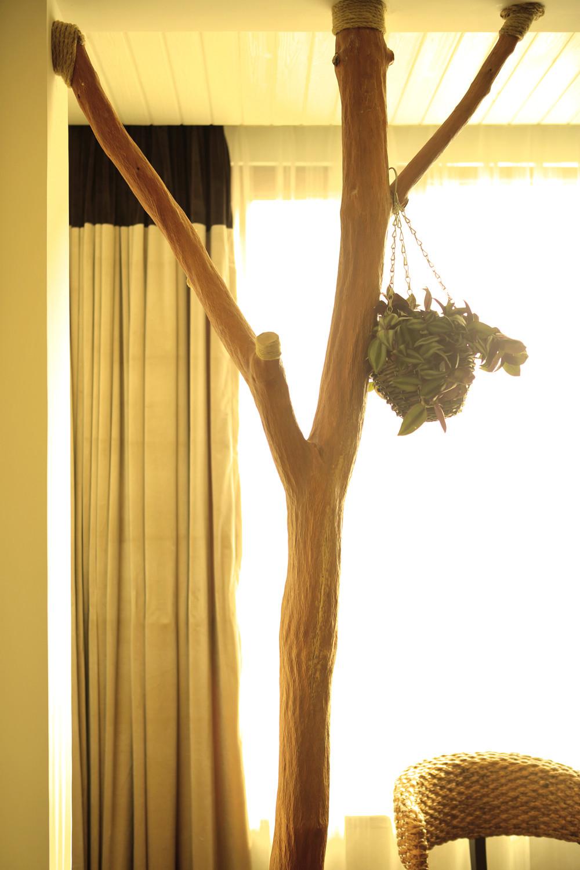 自然北欧风三居装修树枝装饰特写