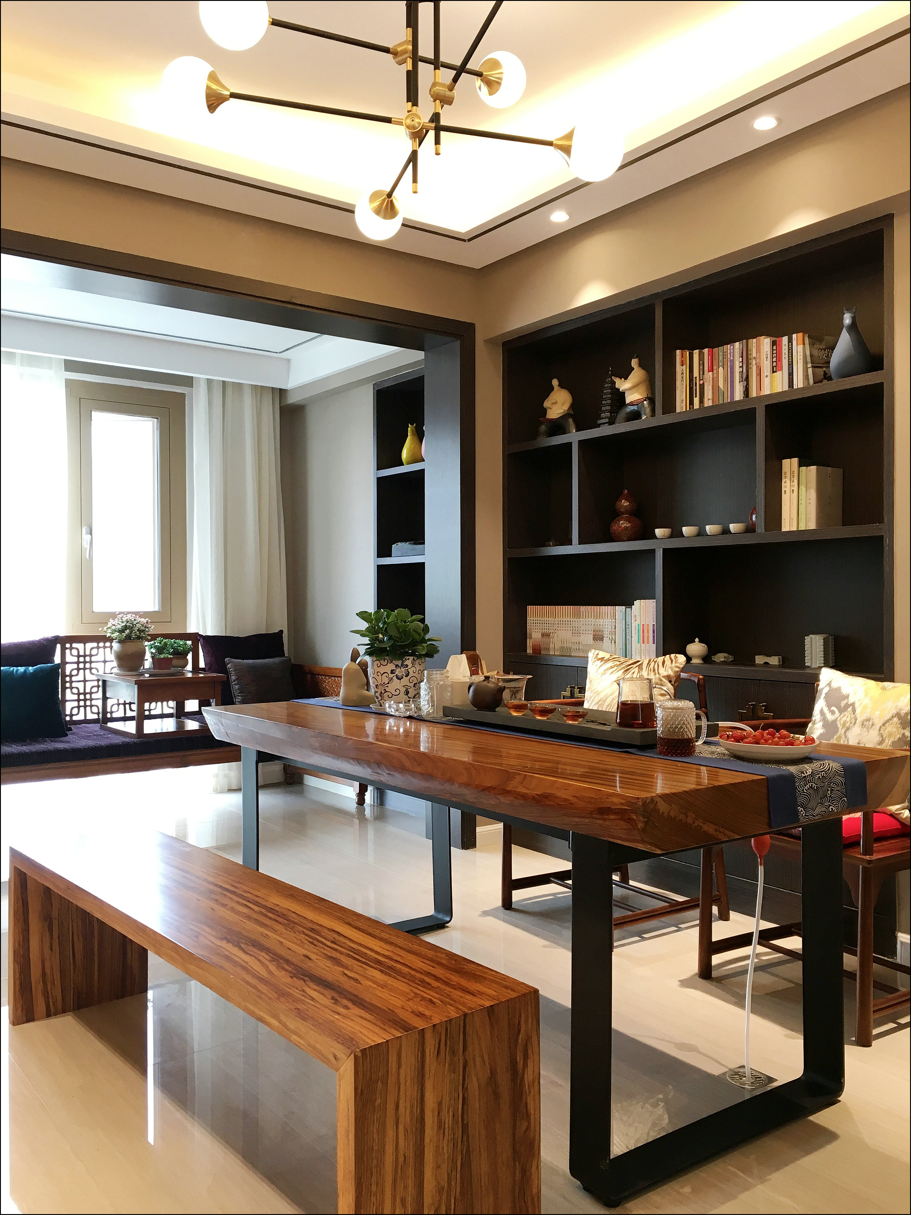 现代简约四居装修书房效果图
