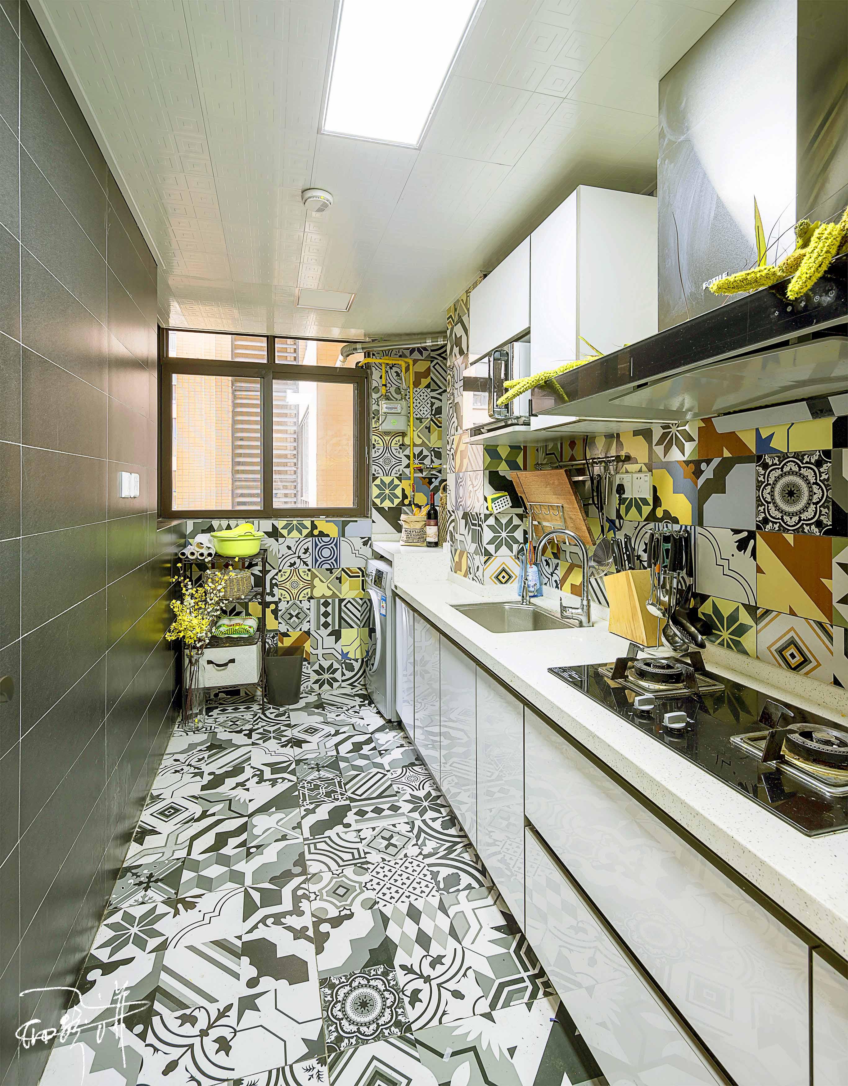 75平北欧装修厨房效果图