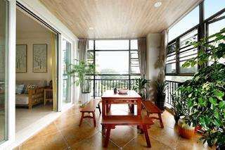 大户型休闲美式风装修阳台欣赏图