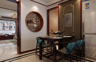 中式复式装修餐厅设计图