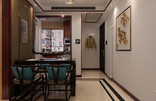 中式复式装修餐桌椅图片