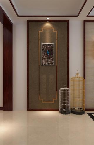 中式復式裝修門廳布置圖