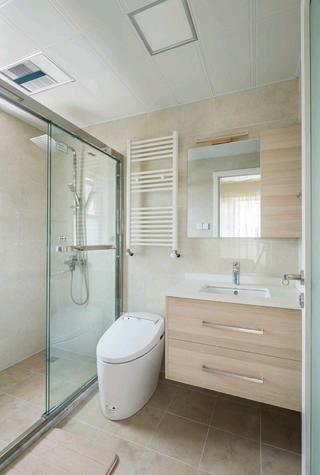 现代日式三居设计卫生间搭配图