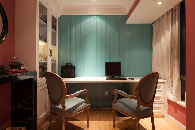 90㎡混搭空间设计书房工作区