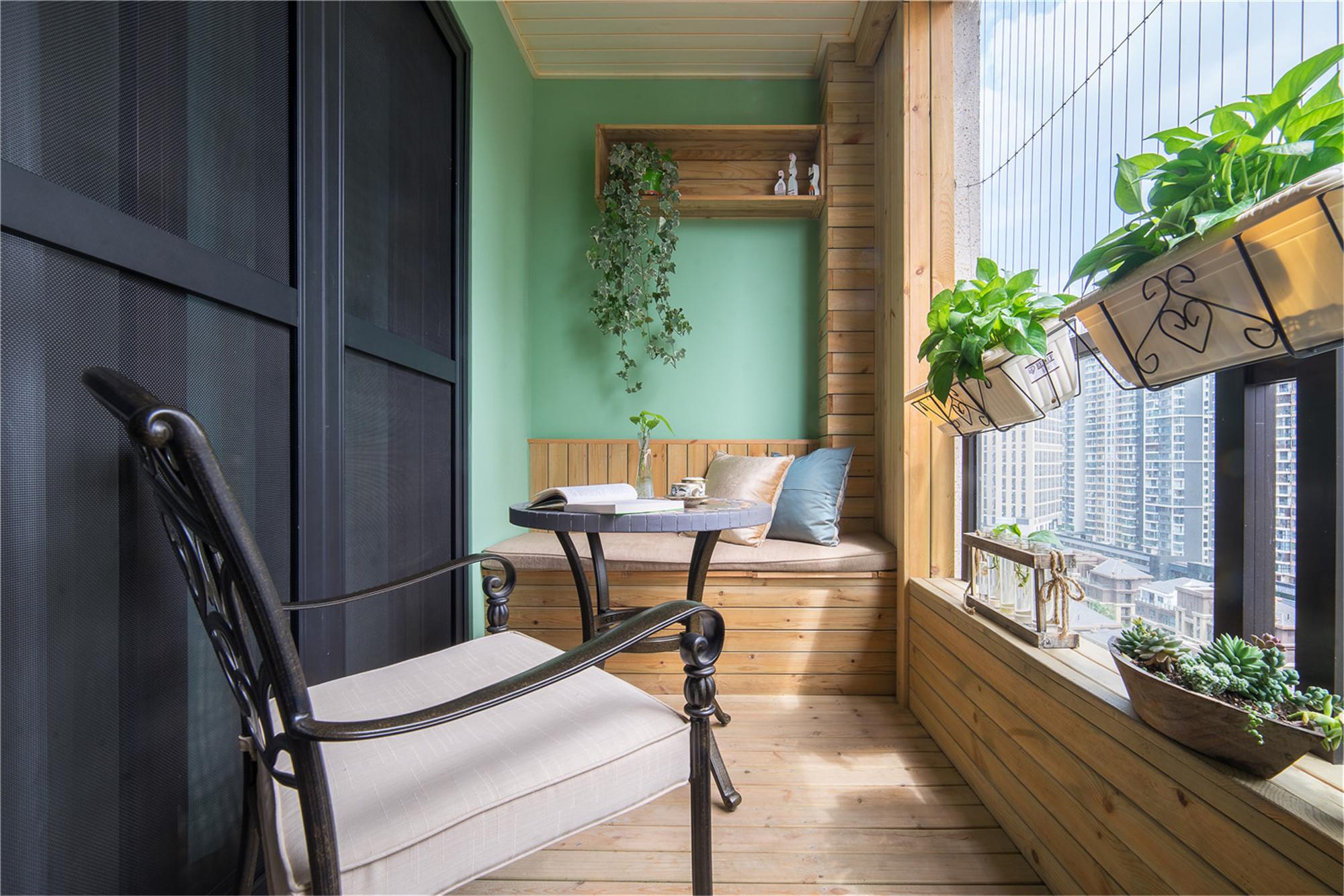 四居室田园风格家阳台欣赏图