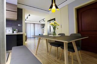 70平北欧二居装修餐厅吊灯图片