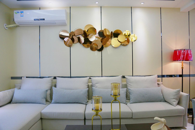 混搭三居室装修沙发背景墙图片
