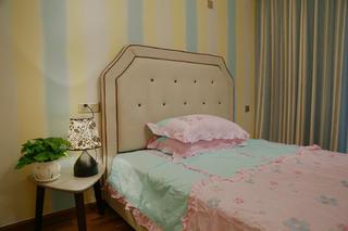混搭三居室装修儿童房背景墙图片
