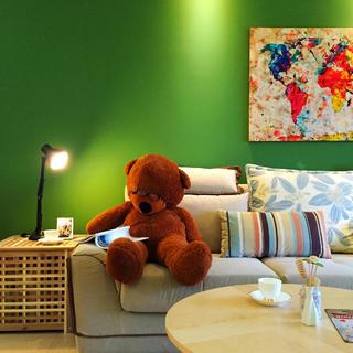 北欧三居装修设计 绿色空间