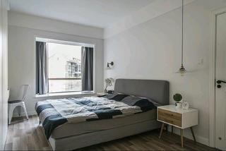110平北欧风格装修卧室设计图