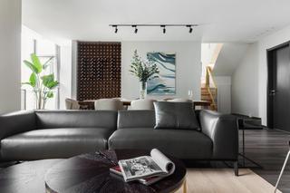 现代简约复式装修沙发图片