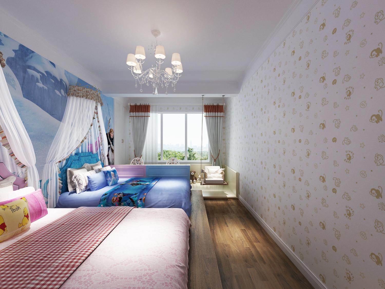 四居室简约风格装修儿童床图片