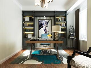 四居室简约风格装修书房设计图