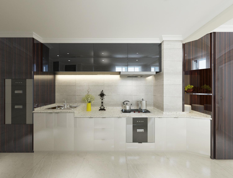 四居室简约风格装修厨房设计图