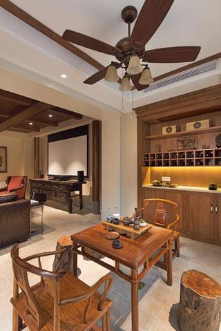 美式别墅装修茶室布置图