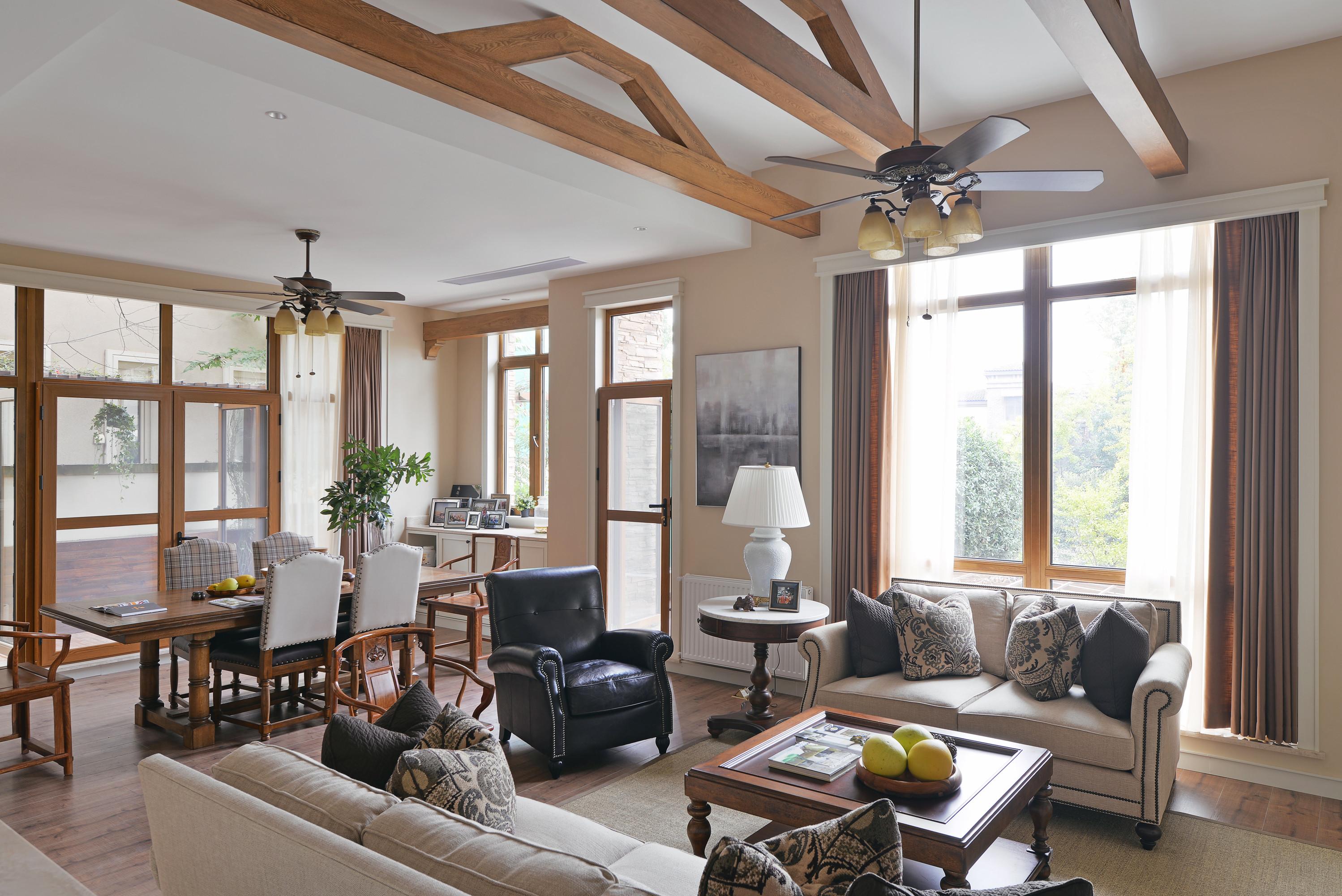 美式别墅装修沙发图片