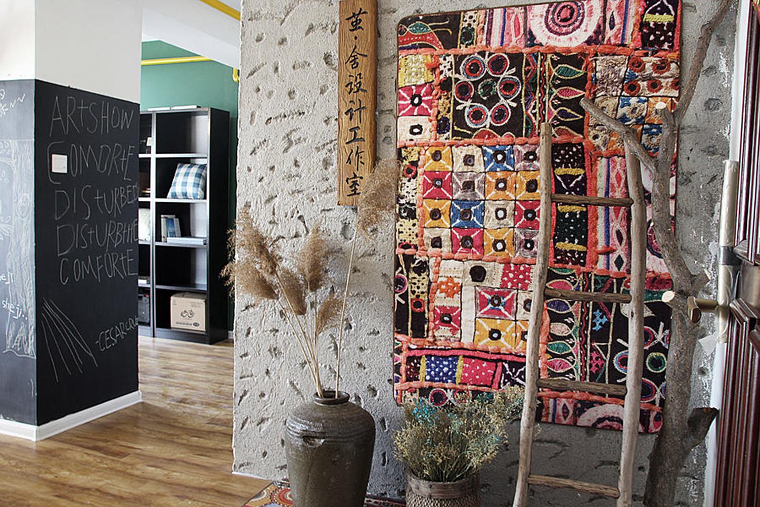 小型工作室混搭装修背景墙图片