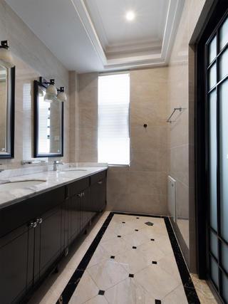 中式别墅装修洗手台图片