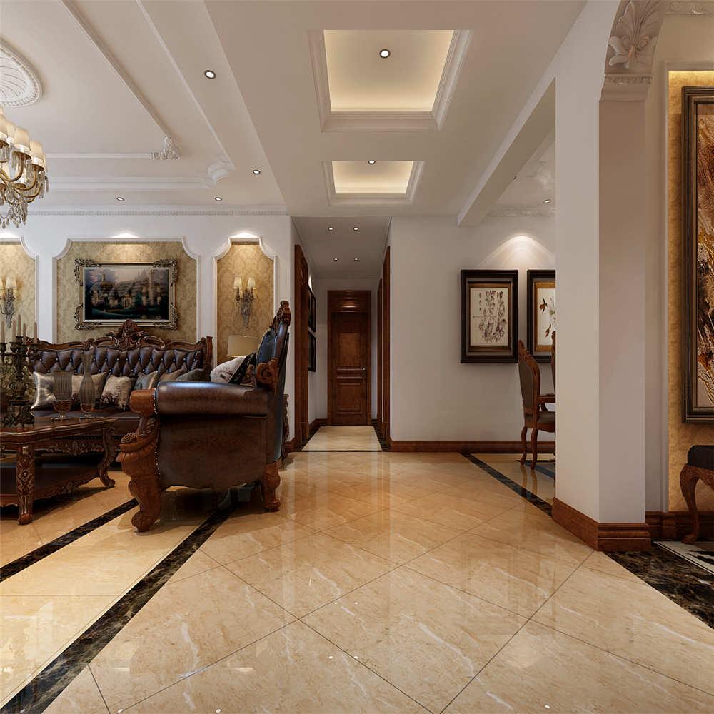 150平简欧风格装修地砖铺贴设计