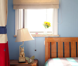 美式三居室装修儿童房一角