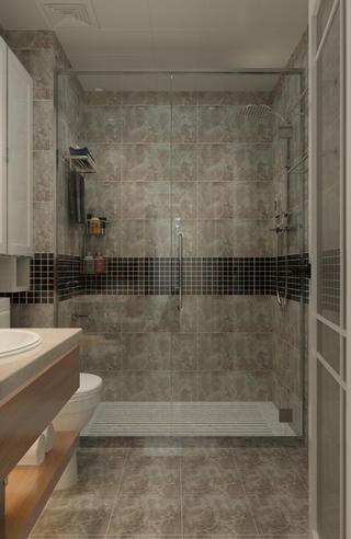 100平三居室装修淋浴房图片