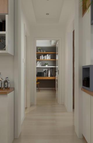 100平三居室装修走廊图片