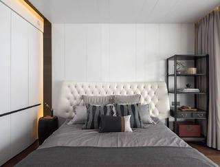 现代复式装修床头软包图片