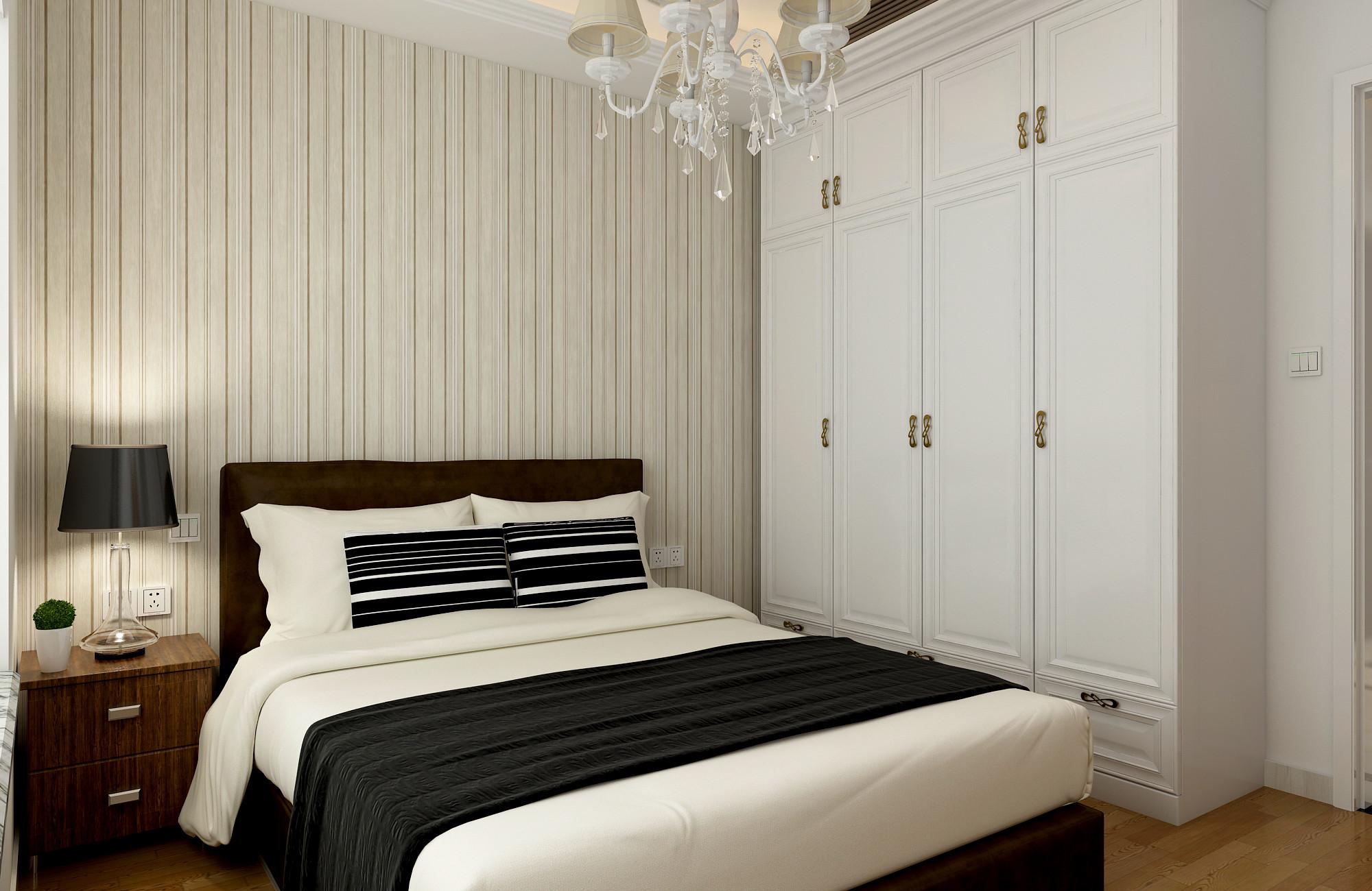 130平二居室装修次卧设计图