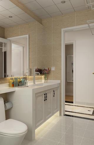 130平二居室装修洗手台图片