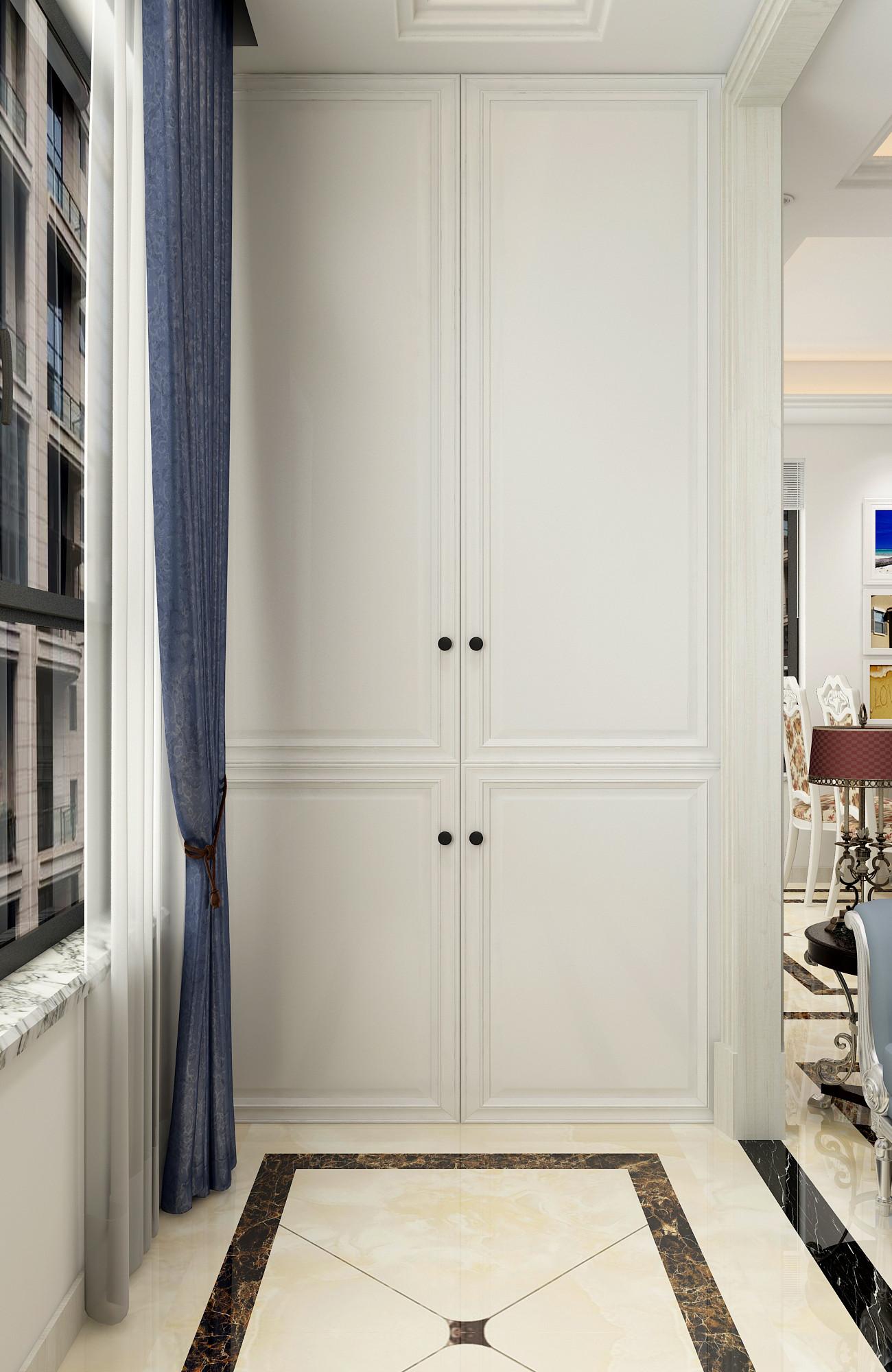 130平二居室装修阳台衣柜图片