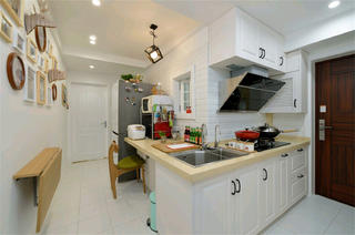 北欧二居室小户型装修厨房设计图