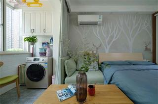 北欧二居室小户型装修阳台布置图