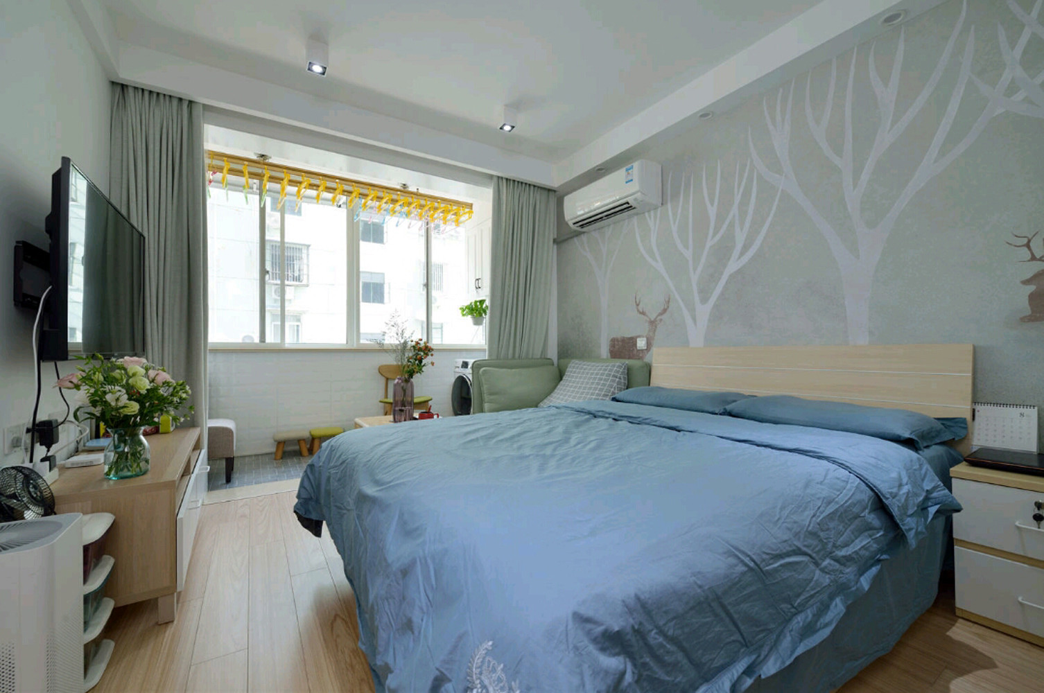北欧二居室小户型装修主卧效果图