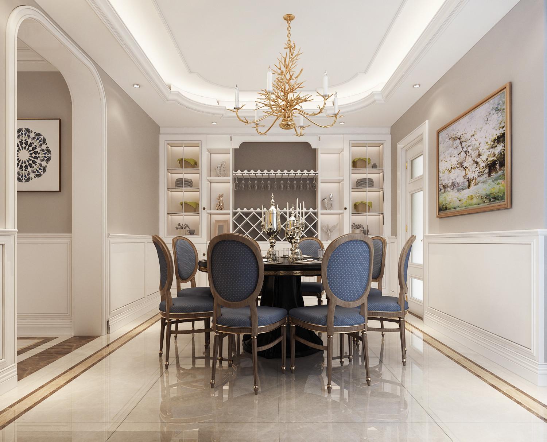 大户型时尚欧式家装修餐厅设计图